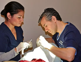 Dr. Rotunda Performing Skin Cancer Surgery